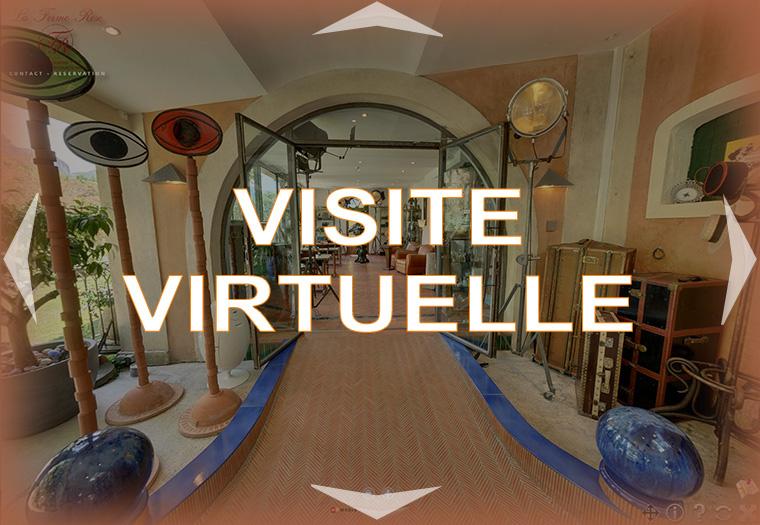 visite virtuelle de la Ferme Rose Hôtel de charme à Moustiers